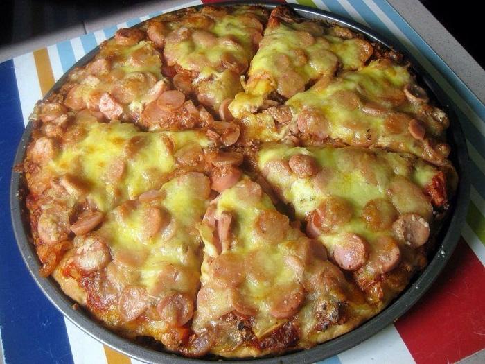 Resepi Pizza Sardin Bersama Sosej
