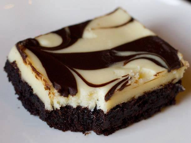 Espresso Marble Cheese Brownies