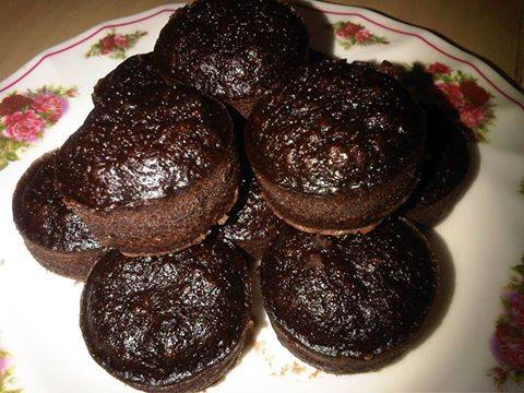 Apam Coklat Kukus Mudah