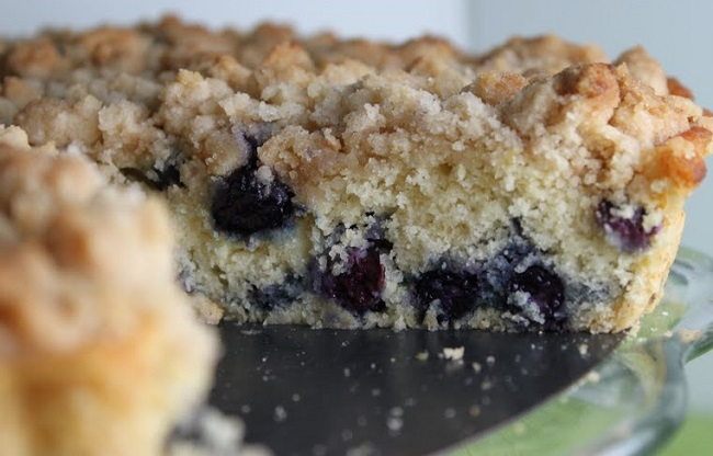 resepi-kek-blueberry-crumble