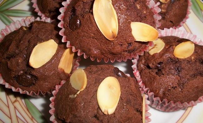 resepi-muffin-coklat-badam