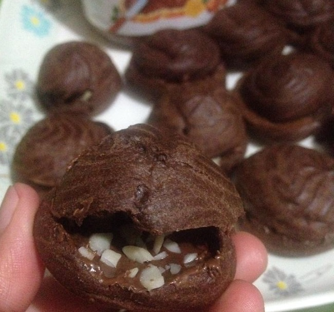 resepi-cream-puff-choclate-nutella