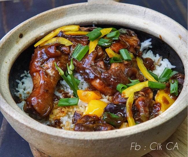 resepi-nasi-ayam-claypot-shitake