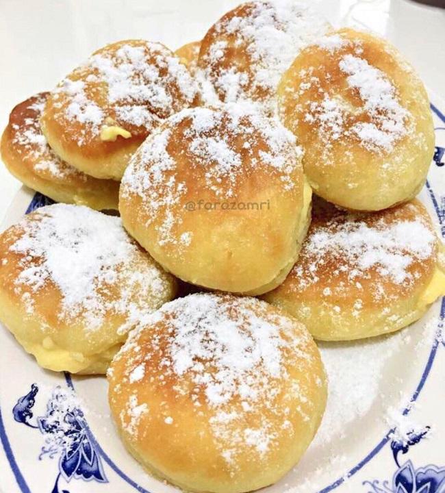 resepi-donut-gebu-berinti-kastard