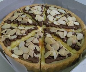 resepi-pie-cheese-nutella-badam