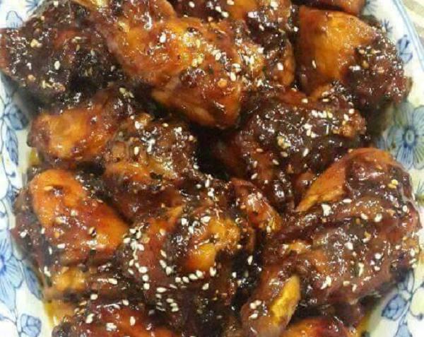 resepi-sticky-caramel-chicken