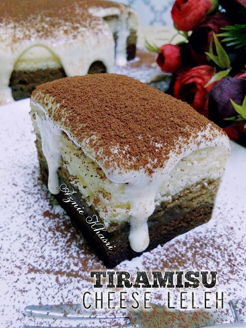 Resepi Kek Tiramisu Cheese Leleh