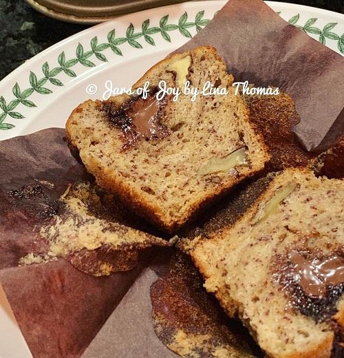 Resepi Muffin Pisang Nutella