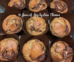 resepi-muffin-pisang-nutella