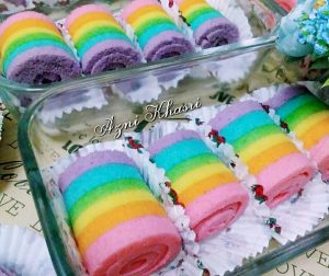 resepi-mini-rainbow-roll