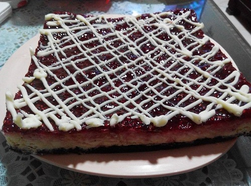 Resepi Raspberry Cheesecake Bars