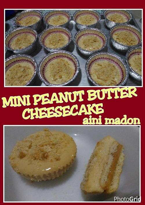 Resepi Mini Peanut Butter Cheesecake