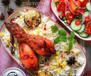 resepi-nasi-jagung-lemon-dengan-ayam-tandoori