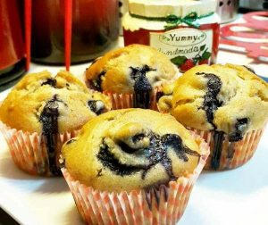 resepi-sour-cream-blueberry-muffins