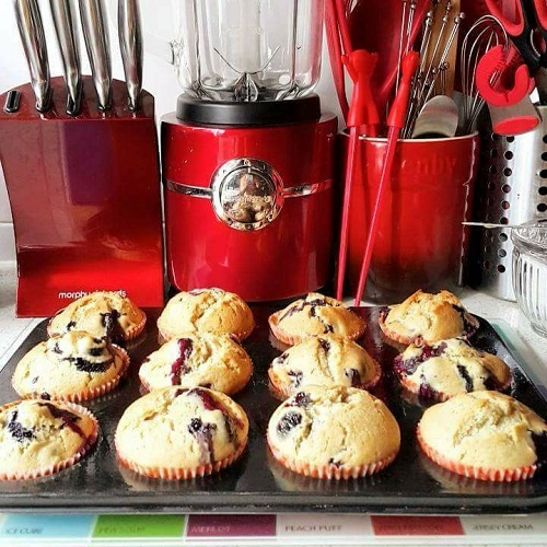 Resepi Sour Cream Blueberry Muffins