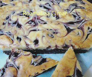 resepi-blueberry-brownies-masam-manis-sedap