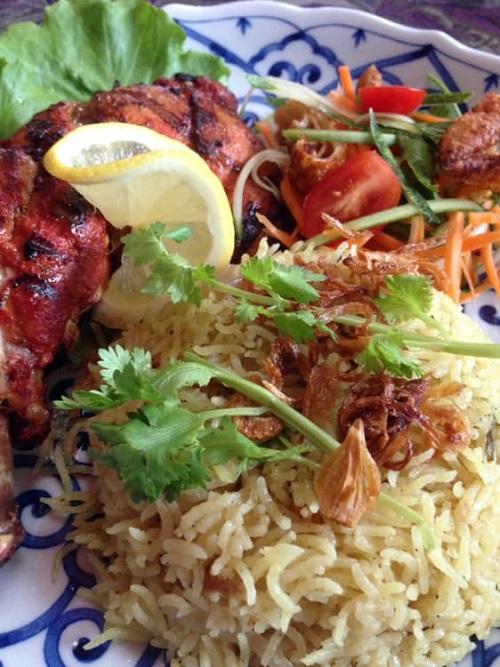 Ressepi Nasi Basmati Berempah dan Ayam Tandori
