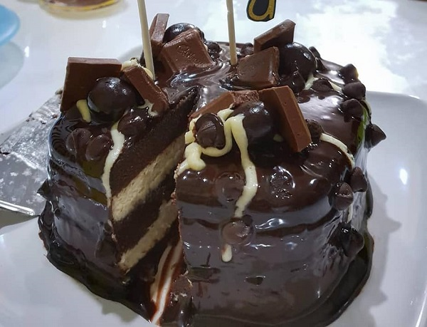 steamed-chocolate-cheese-cake-with-chocolate-ganache