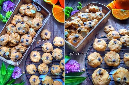 resepi-biskut-orange-chocolate-chips