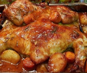 resepi-baked-mayo-chicken-dan-black-pepper-mayo-gravy