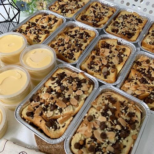 Resepi Bread Butter Pudding Versi Bakar