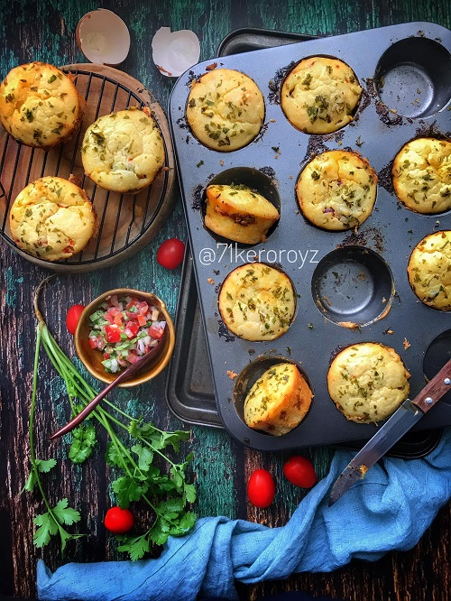 Resepi Muffin Berlauk atau Savoury Muffin