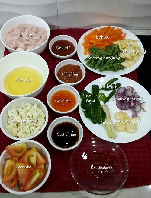 Resepi Paprik Ayam Thai Terangkat