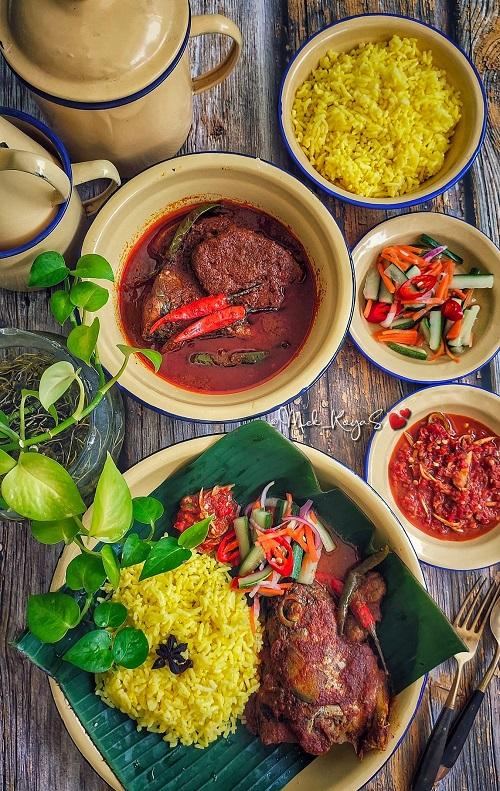 Resepi Nasi Kuning Terengganu Dengan Gulai Ikang Aya