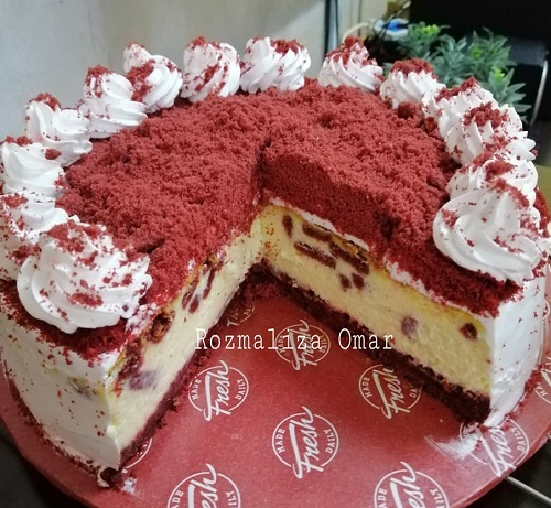 resepi-red-velvet-oreo-cheese-cake