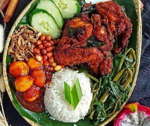 resepi-nasi-lemak-tumis-dengan-ayam-berempah