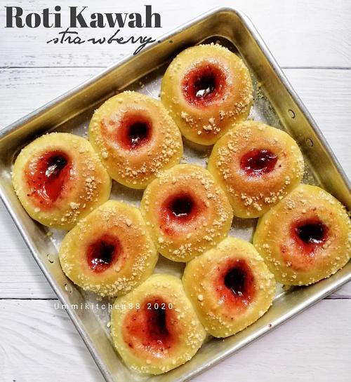 resepi-roti-kawah-inti-strawberry