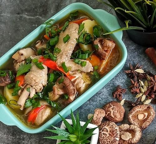 resepi-sup-ayam-cendawan-simple