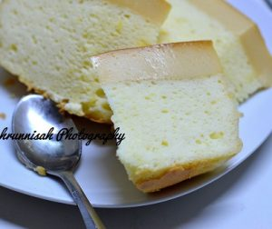resepi-japanese-cotton-caramel-cheesecake