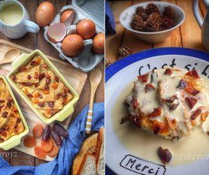 resepi-puding-roti-beryogurt-dengan-sos-kastard