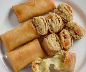 resepi-popia-carbonara-cheese-tarik