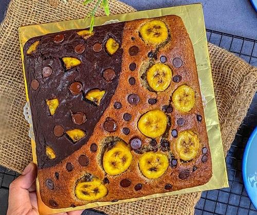 cara-buat-kek-pisang-2-benua