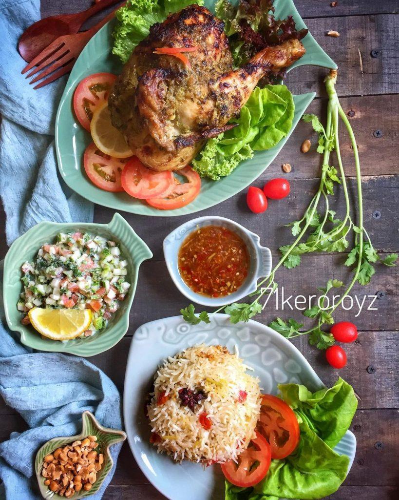 Resepi Ayam Panggang Ketumbar Dengan Salad Salsa
