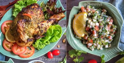 resepi-ayam-panggang-ketumbar-dengan-salad-salsa
