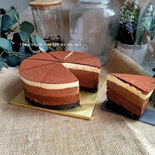Resepi Kek Triple Chocolate Mousse