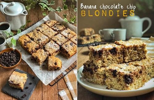 resepi-banana-chocolate-chip-blondies