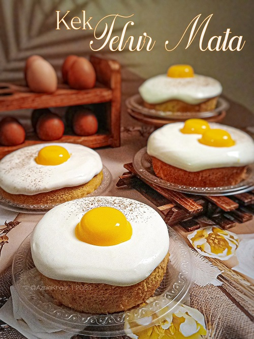 Resepi Kek Telur Mata Mango Cheese