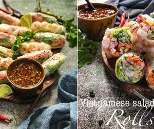 resepi-vietnamese-salad-rolls-dengan-sos-ketumbar