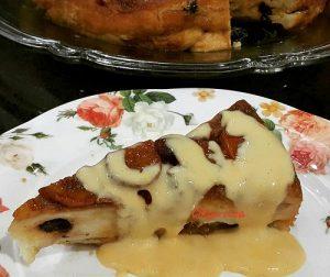 puding-roti-pisang-karamel-bersama-sos-kastad