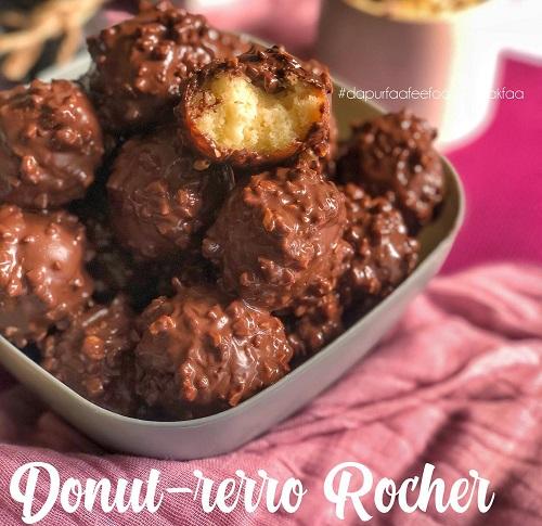 resepi-bebola-donut-donut-rerro-rocher