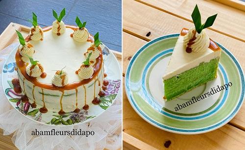 kek-pandan-gula-melaka-dengan-swiss-meringue-buttercream