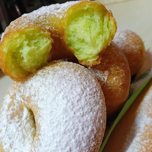 donut-pandan-mudah-uli-guna-tangan